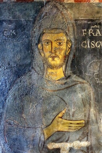 St. Francis of Assisi, painted during his lifetime, Subiaco Mona