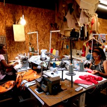 Francess and Helen, two of the Studio's dressmakers and designers.